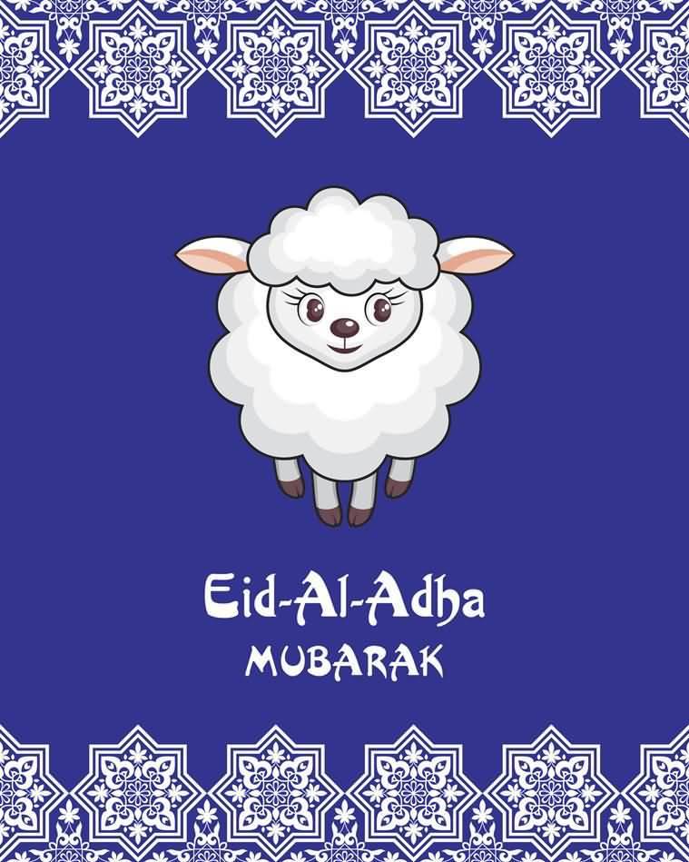 Eid al adha mubarak sheep picture greeting card m4hsunfo