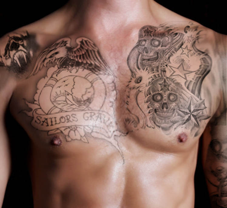 55 skull and star tattoos ideas with meanings for Skull and eagle tattoo