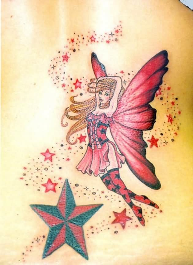 45 fairy and stars tattoos with meanings. Black Bedroom Furniture Sets. Home Design Ideas