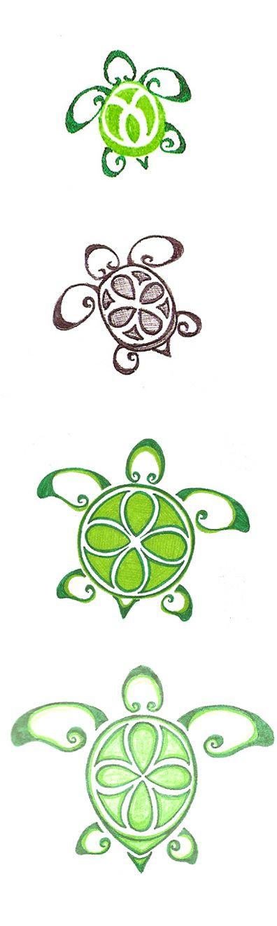 82923dd66 Green And Grey Ink Turtle Tattoos Design