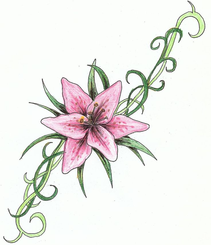 51 Small Lily Tattoos Ideas