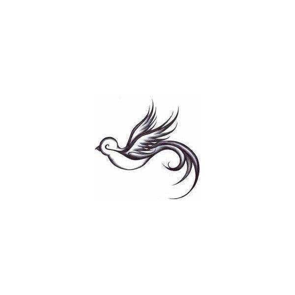 Grey Ink Peace Dove Tattoo Design