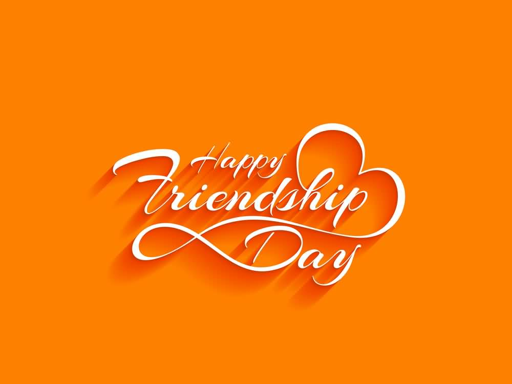 55 most beautiful happy friendship day 2017 wish pictures happy friendship day orange background greeting card m4hsunfo