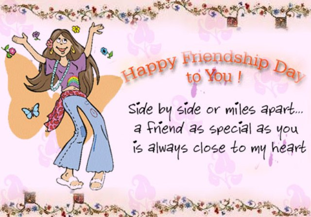 Happy Friendship Day To You Dancing Girl Card