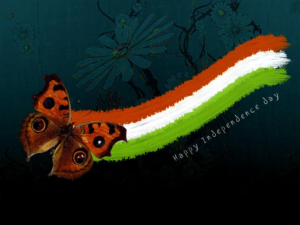 Indian Flag Butterflies: 50+ Happy Independence Day India Wish Pictures