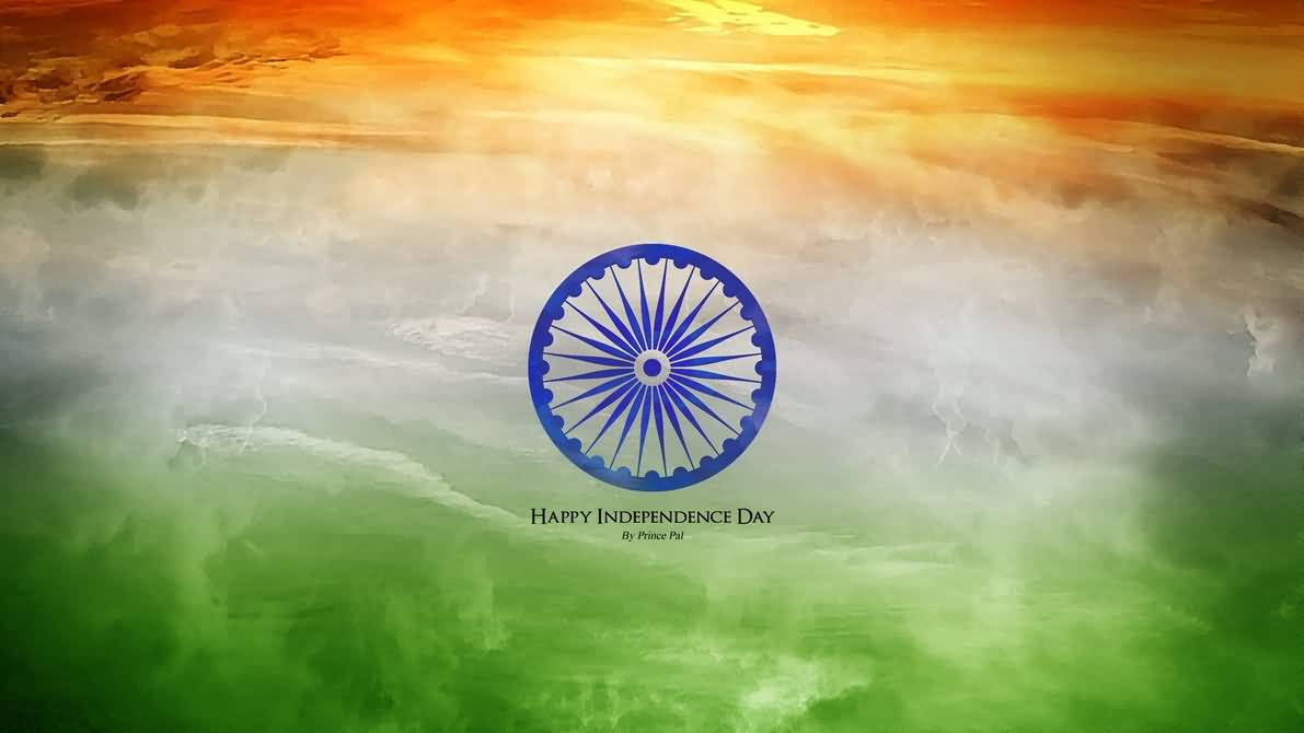 Happy Independence Day Indian Flag In Background Wallpaper