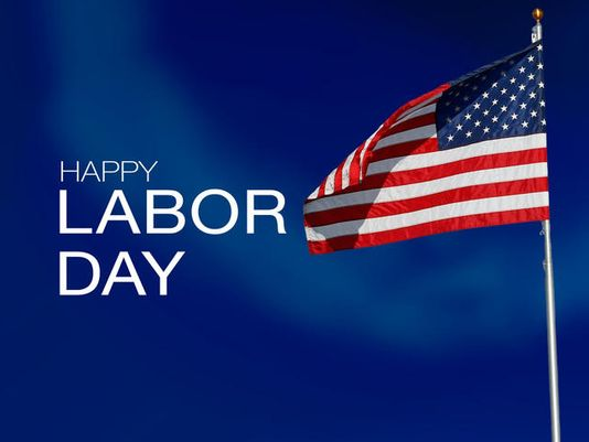 Happy Labor Day American Flag Picture