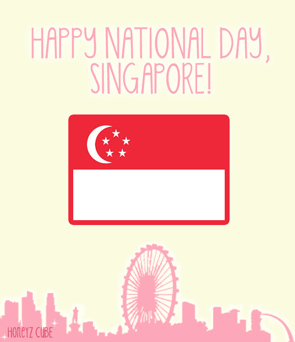 Singapore National Day Flag In Background