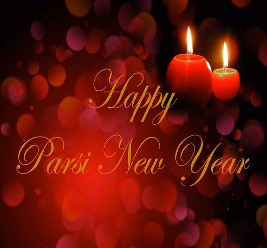 Happy Parsi New Year Candles Picture