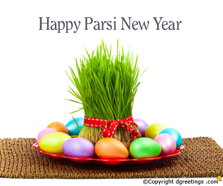 Happy Parsi New Year Colorful Eggs Picture