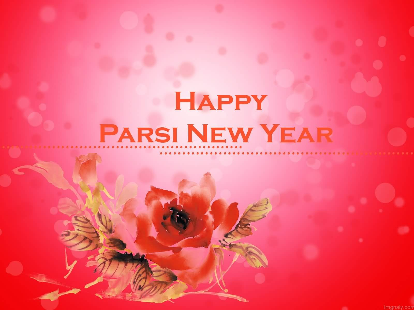 Happy Parsi New Year Flower Greeting Card