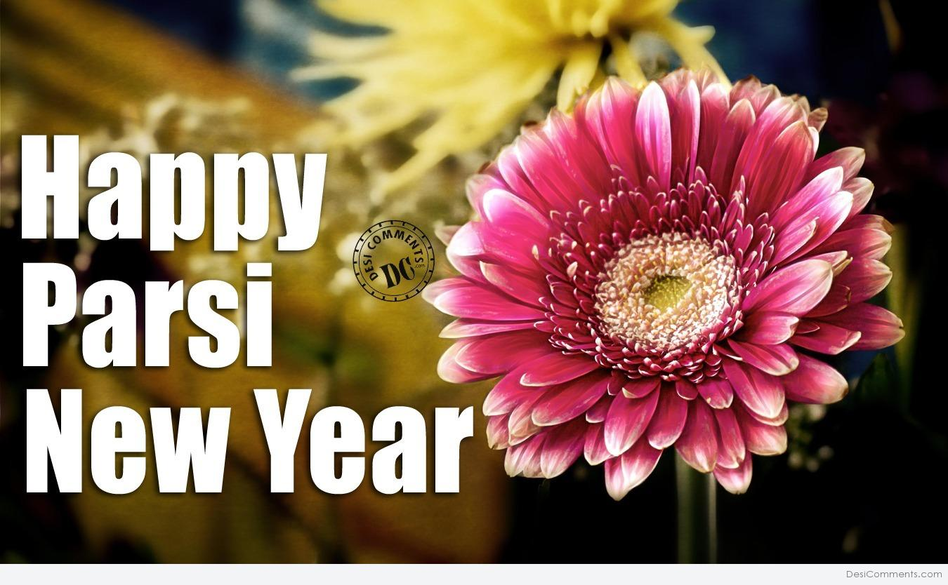 Happy Parsi New Year Flower Image