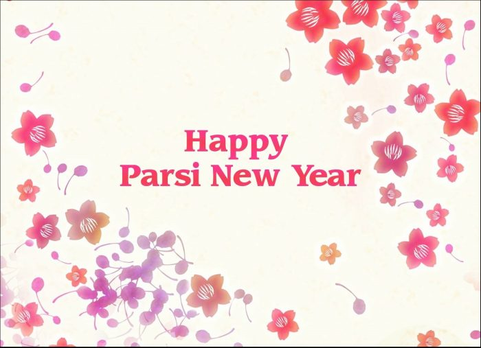 Happy Parsi New Year Flowers Image