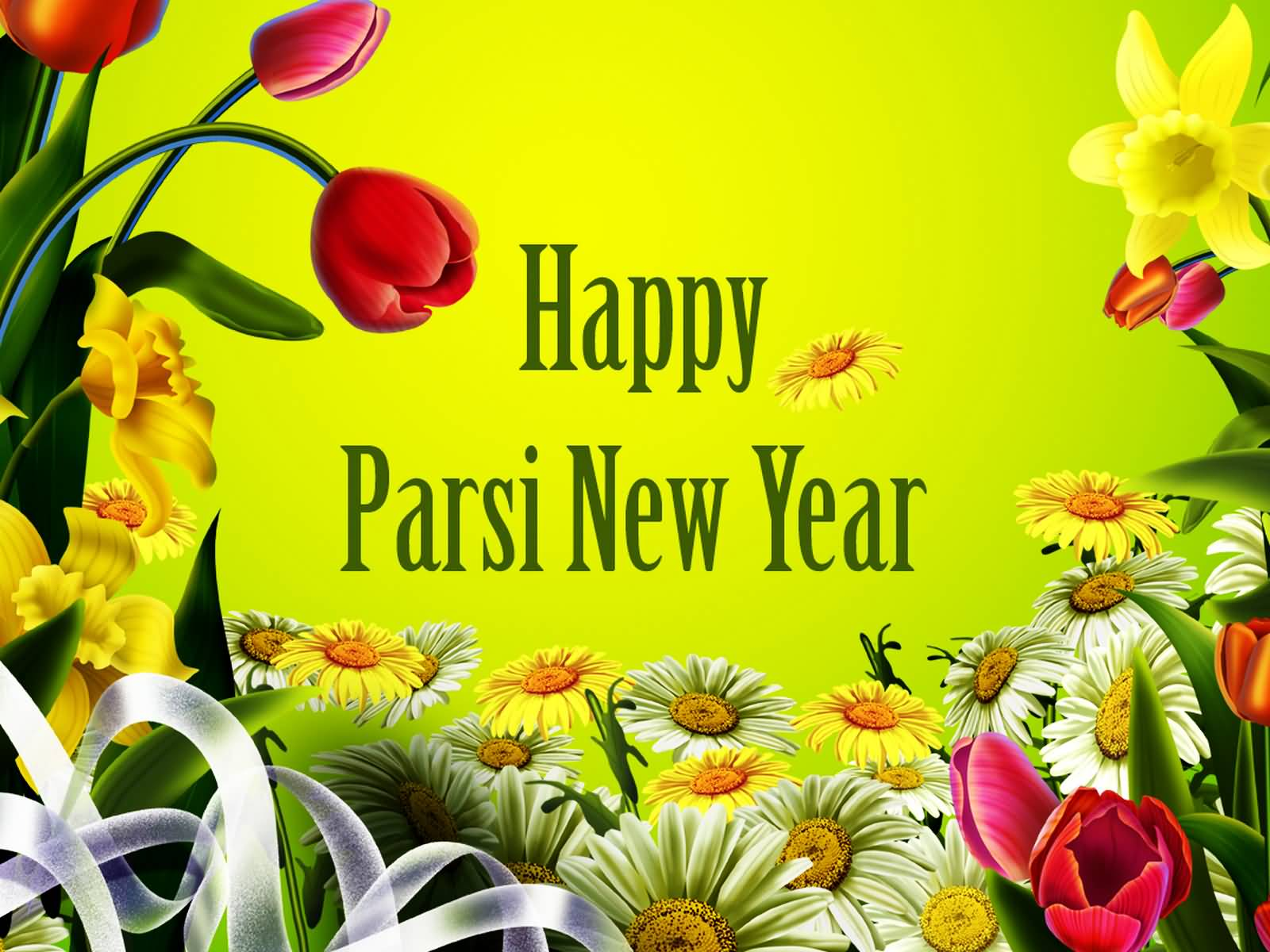 Happy Parsi New Year Flowers Picture