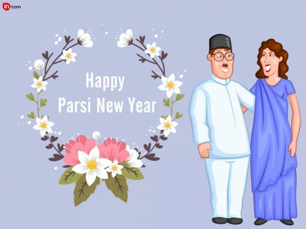 Happy Parsi New Year Parsi Couple Picture