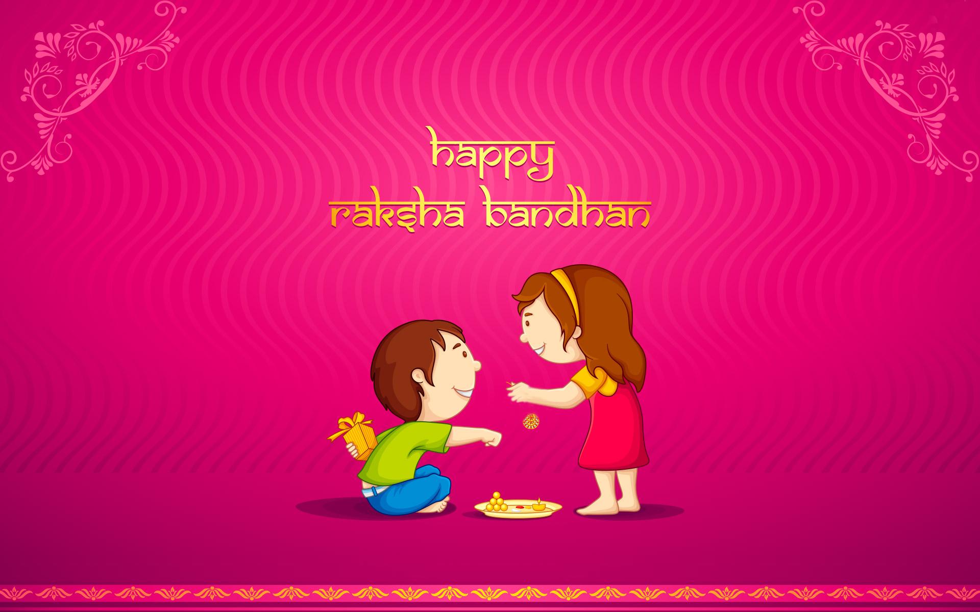 Happy raksha bandhan brother and sister love wallpaper kristyandbryce Choice Image
