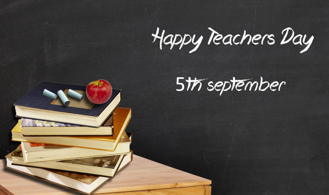 Happy Teacher's Day 5th September Books With Apple