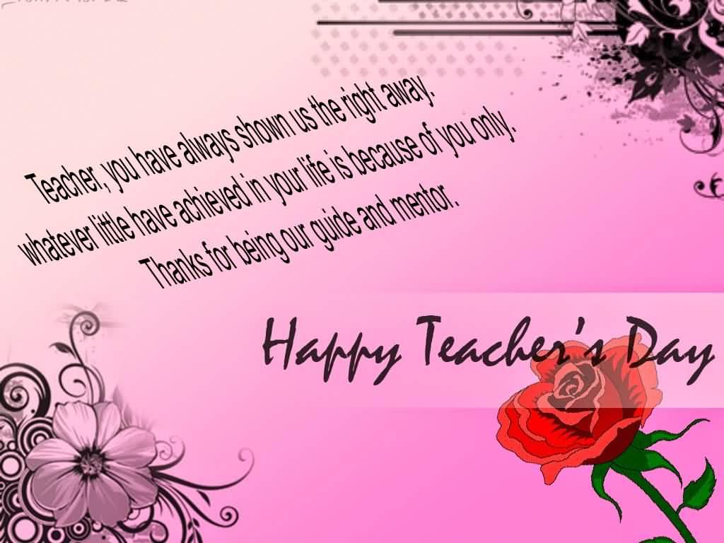 Happy Teacher's Day Beautiful Teacher Quote