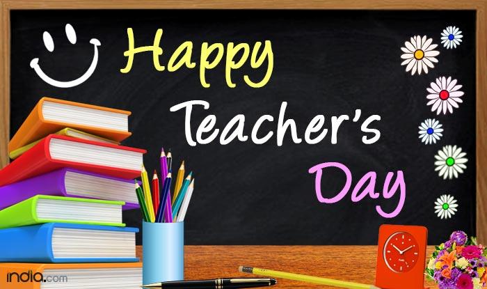 Happy Teacher's Day Black Board Illustration