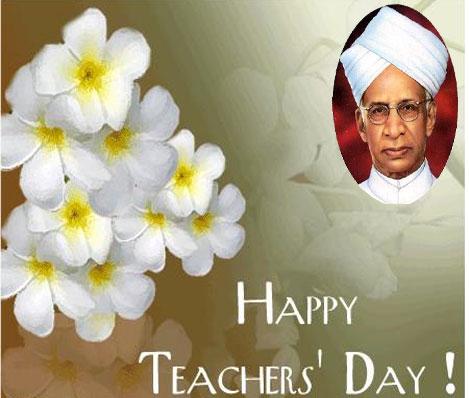 Happy Teacher's Day Flowers On Dr. Radhakrishnan