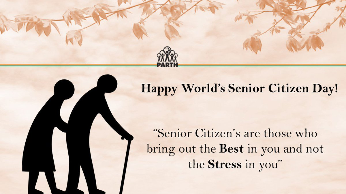 Happy World's Senior Citizen Day Quote