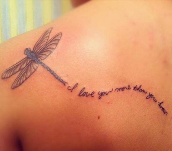 I Love You More Tattoos: 50+ Best Dragonfly Tattoos Ideas