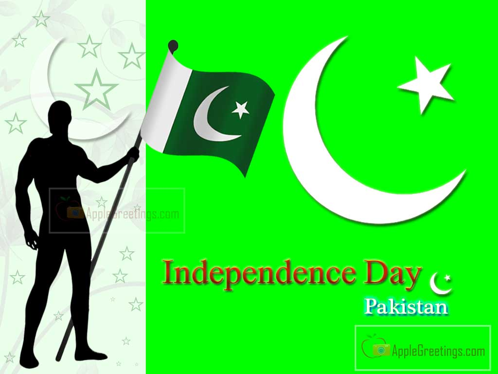 Independence Day Pakistan Man Holding Pakistani Flag
