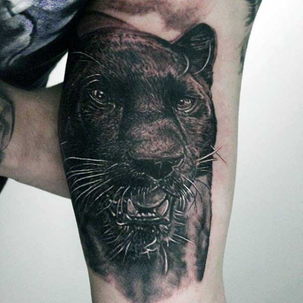 67+ Black Panther Tattoos Ideas With Meanings - photo#28