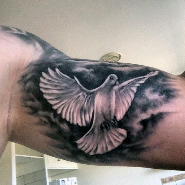871ae4ce3 Inner Bicep Flying Flying Dove Tattoo Idea