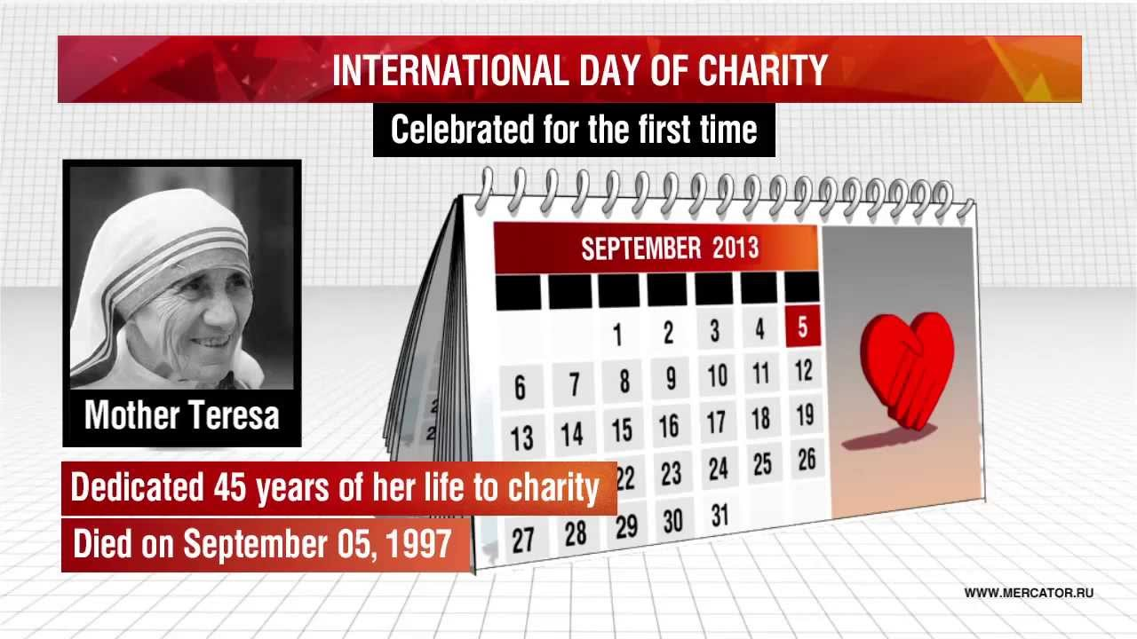 International Day Of Charity Celebrate For The First Time Mother Teresa Picture