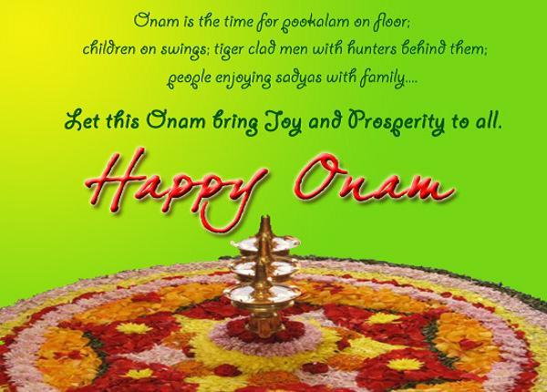 Let this onam bring joy and prosperity to all happy onam greeting card m4hsunfo