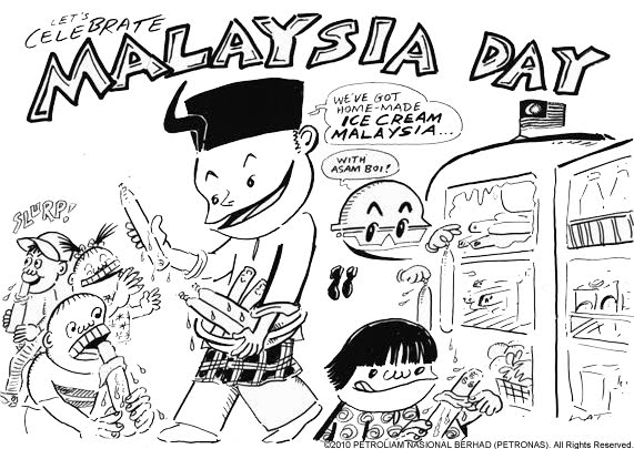 lets celebrate malaysia day coloring page