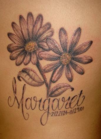 margaret memorial daisy flower tattoo. Black Bedroom Furniture Sets. Home Design Ideas