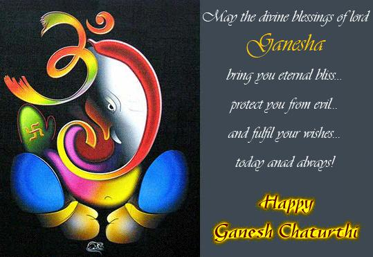May The Divine Blessings Of Lord Ganesha Bring You Eternal Bliss Protect You From Evil Happy Ganesh Chaturthi