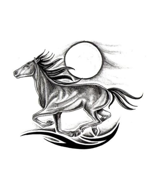 62 running horse tattoos ideas