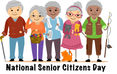 national senior citizens day group of old people clipart
