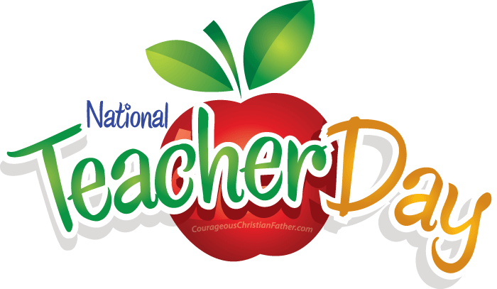 National Teacher's Day Apple Clipart