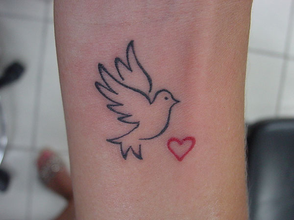 68 small dove tattoos ideas with meaning for Small heart tattoos on wrist