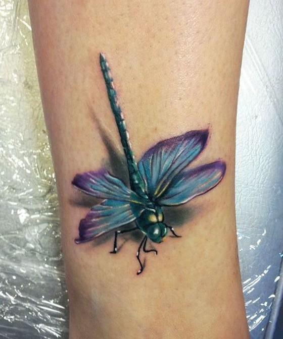 Realistic Dragonfly Tattoos 80+ Meaningful Dragonf...