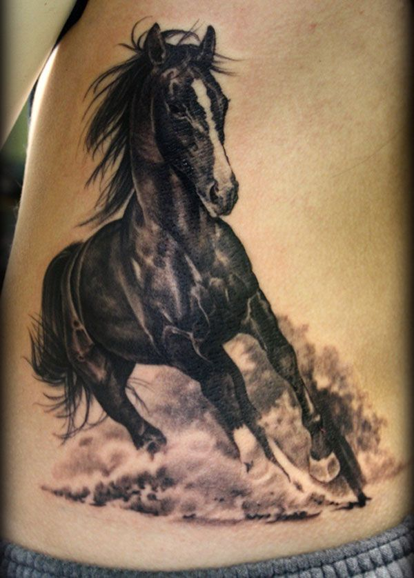 d1fe5d5a2 Realistic Running Running Horse Tattoo On Lower Back