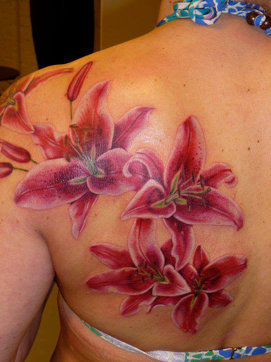 55 lily tattoos on shoulder with meaning for Lily tattoo meaning
