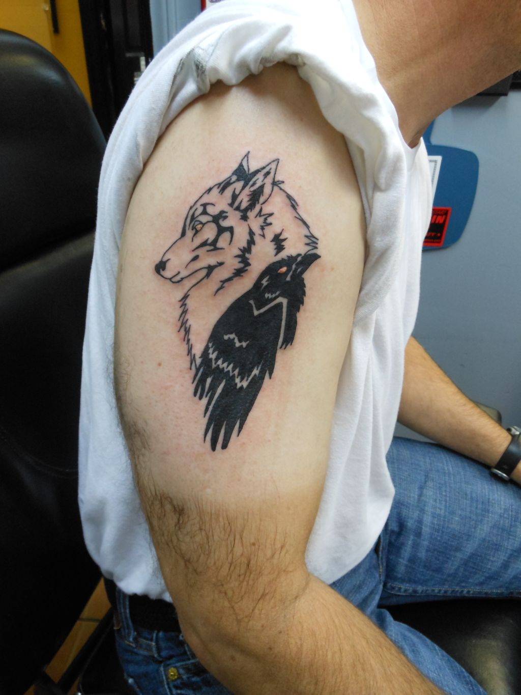 1 2 sleeve tattoo wolf head images for tatouage for 1 2 sleeve tattoo