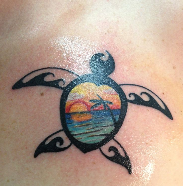 1abca6bf6 Sea Beach view Turtle Tattoo Idea