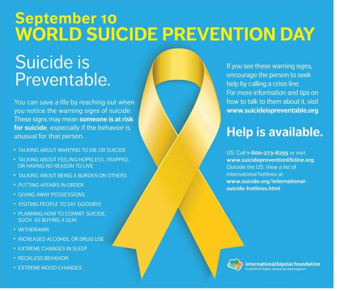 Suicide prevention day yellow dress