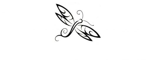 Dragonfly Outline Tattoo