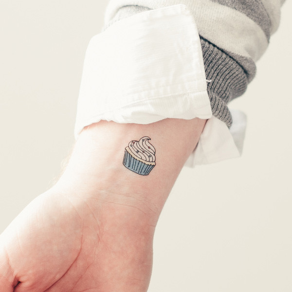 70+ Simple Cupcake Tattoos Ideas