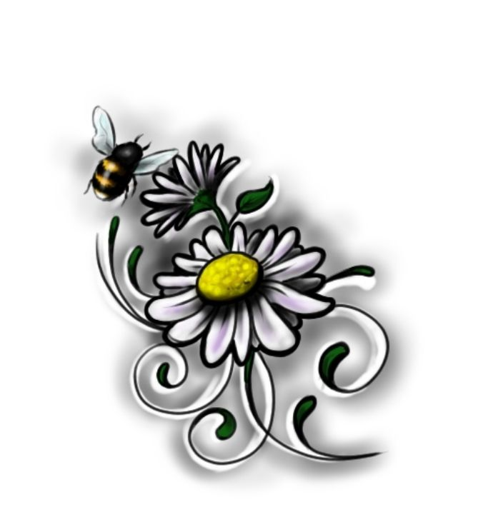beautiful daisy flowers tattoos, Beautiful flower