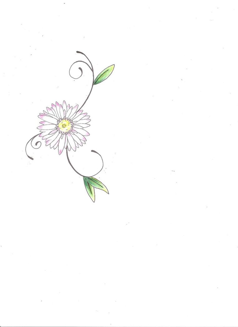 Small Daisy Flower Tattoo Design