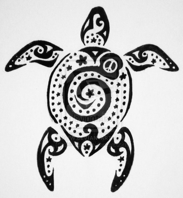 spiral tribal turtle tattoo design. Black Bedroom Furniture Sets. Home Design Ideas