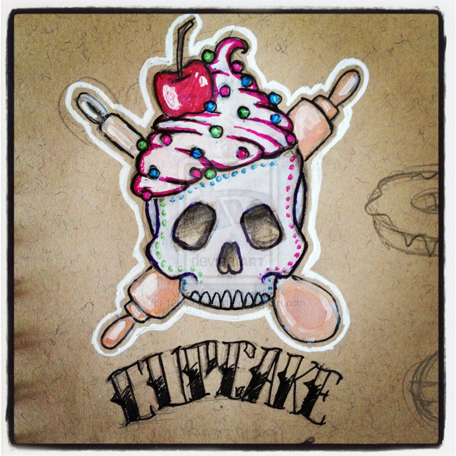 54 sugar skull cupcake tattoos ideas with meaning sugar skull cupcake tattoo design for men biocorpaavc Images